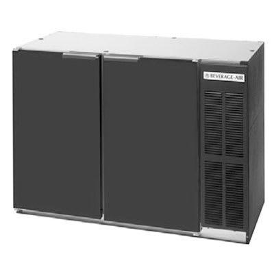 "Beverage Air BB48YF-1-B 48"" (2) Section Bar Refrigerator - Swinging Solid Doors, 115v"