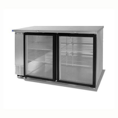 "Beverage Air BB58G-1-S 58""  (2) Section Bar Refrigerator - Swinging Glass Doors, 115v"