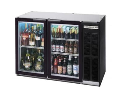 """Beverage Air BB72GY-1-S-27-PT 72"""" (3) Section Bar Refrigerator - Swinging Glass Doors, 115v"""