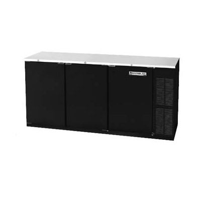 "Beverage Air BB72HC-1-F-S 72"" (3) Section Bar Refrigerator - Swinging Solid Doors, 115v"