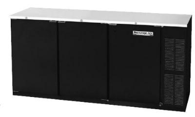 "Beverage Air BB72Y-1-S 72"" (3) Section Bar Refrigerator - Swinging Solid Doors, 115v"