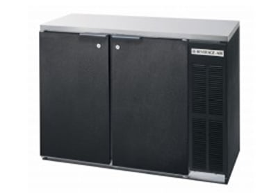 "Beverage Air BB72Y-1-S-27-PT 72"" (3) Section Bar Refrigerator - Swinging Solid Doors, 115v"