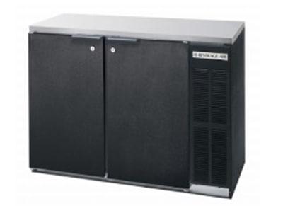 "Beverage Air BB72YF-1-S-27-PT 72"" (3) Section Bar Refrigerator - Swinging Solid Doors, 115v"
