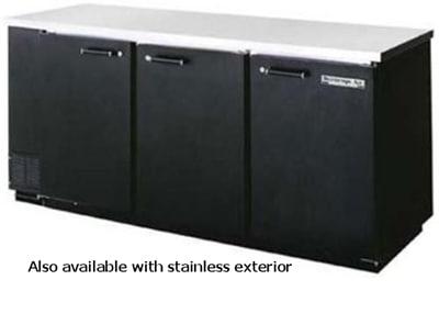 "Beverage Air BB78-1-S-PT 78"" (3) Section Bar Refrigerator - Swinging Solid Doors, 115v"