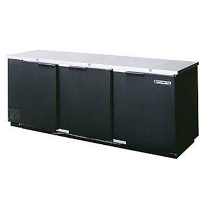 "Beverage Air BB78F-1-S 78"" (3) Section Bar Refrigerator - Swinging Solid Doors, 115v"