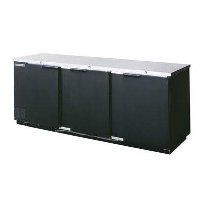 "Beverage Air BB94F-1-B-PT 94"" (3) Section Bar Refrigerator - Swinging Solid Doors, 115v"