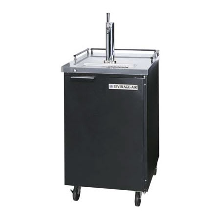 "Beverage Air BM23-B 24"" Draft Beer System w/ (1) Keg Capacity - (1) Column, Black, 115v"