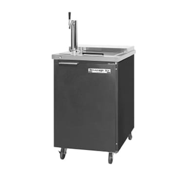 "Beverage Air BM23-C-B 24"" Draft Beer System w/ (1) Keg Capacity - (1) Column, Black, 115v"