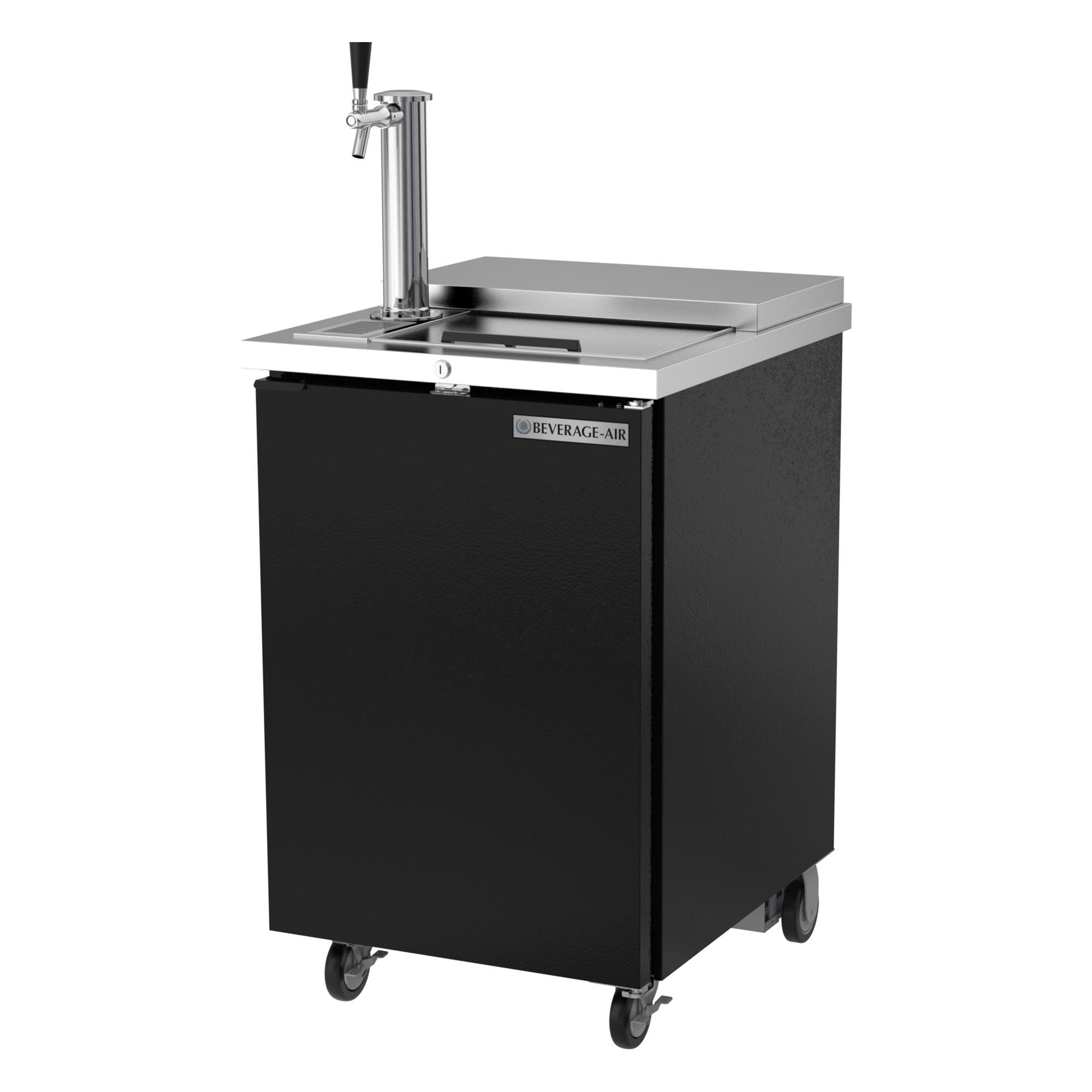 "Beverage Air BM23HC-C-B 24"" Draft Beer System w/ (1) Keg Capacity - (1) Column, Black, 115v"