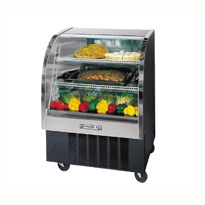 """Beverage Air CDR3/1-B-20 37"""" Full Service Deli Case w/ Curved Glass - (3) Levels, 115v"""