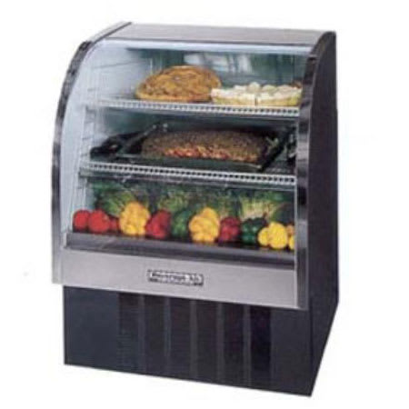 "Beverage Air CDR3/1-W-20 37"" Full Service Deli Case w/ Curved Glass - (3) Levels, 115v"