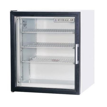 "Beverage Air CF3-1-W 23"" One-Section Display Freezer w/ Swinging Door - Rear Mount Compressor, 115v"