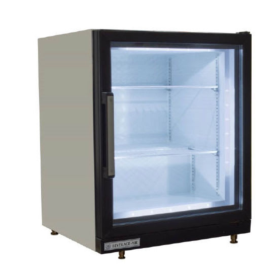 "Beverage Air CF3HC-1-W 23.75"" One-Section Display Freezer w/ Swinging Door - Rear Mount Compressor, Black, 115v"