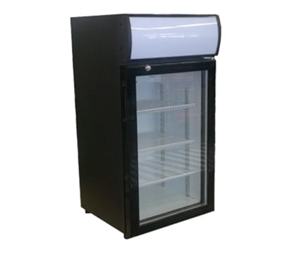 "Beverage Air CTF96-1-B-LED 21.5"" One-Section Display Freezer w/ Swinging Door - Rear Mount Compressor, 115v"
