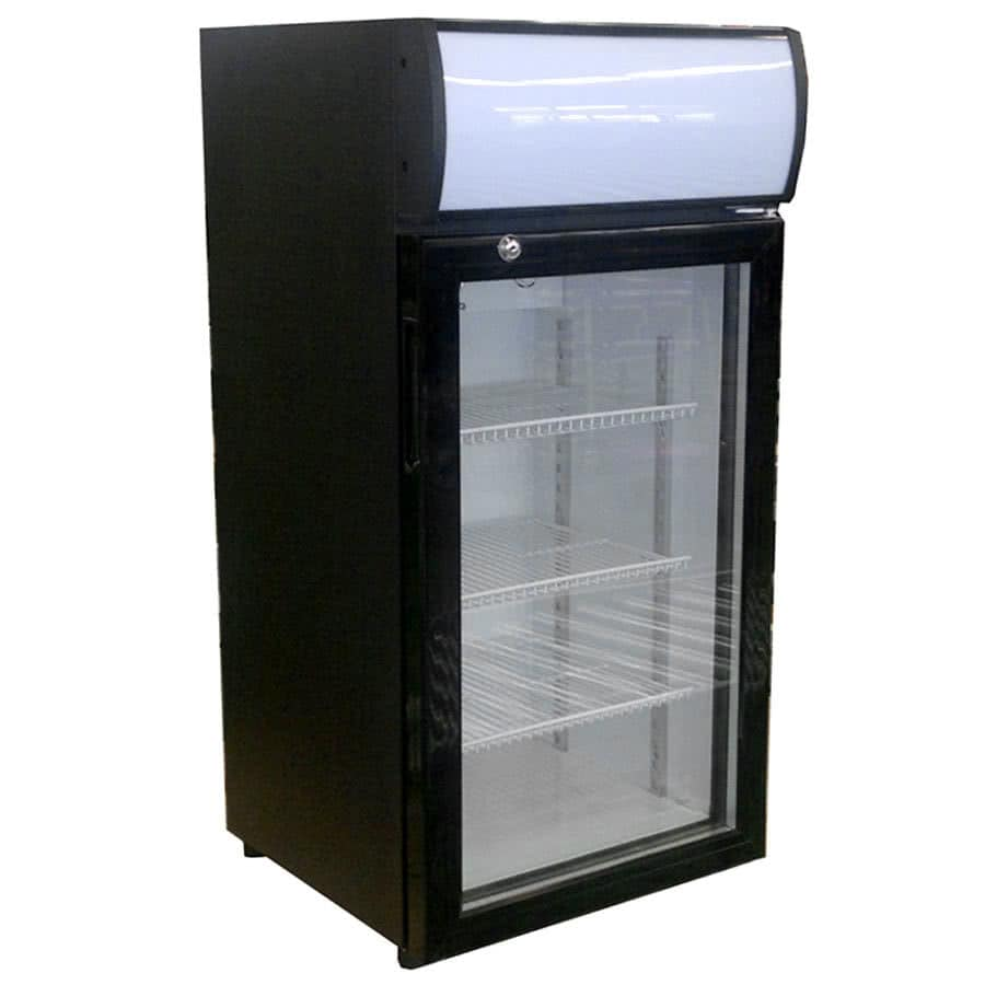 "Beverage Air CTR3-1-B-LED 18.13"" Countertop Refrigerator w/ Front Access - Swing Door, Black, 115v"