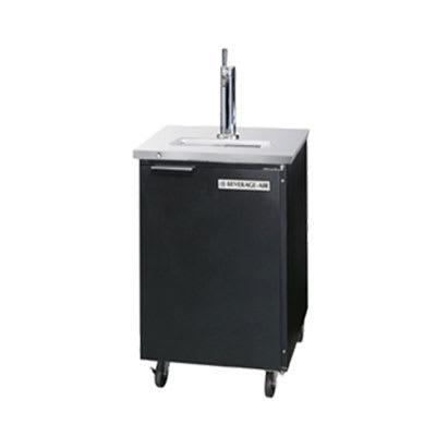 "Beverage Air DD36-1-B 36"" Draft Beer System w/ (1/2) Keg Capacity - (1) Column, Black, 115v"