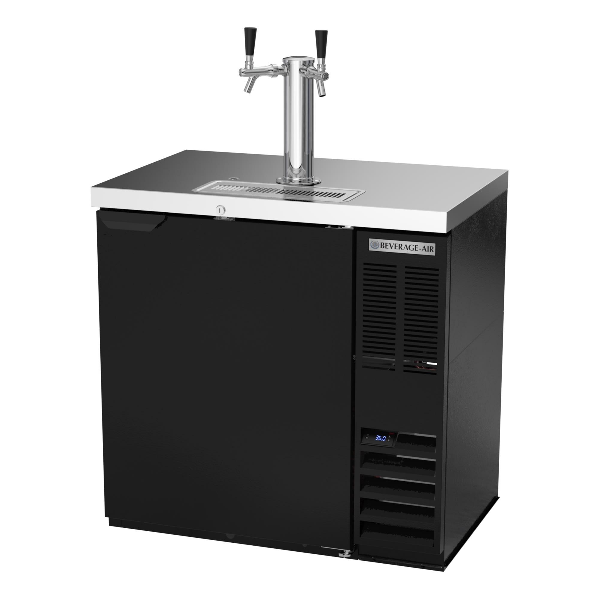 "Beverage Air DD36HC-1-B 36"" Draft Beer System w/ (1) 1/2 Keg Capacity - (1) Column, Black, 115v"
