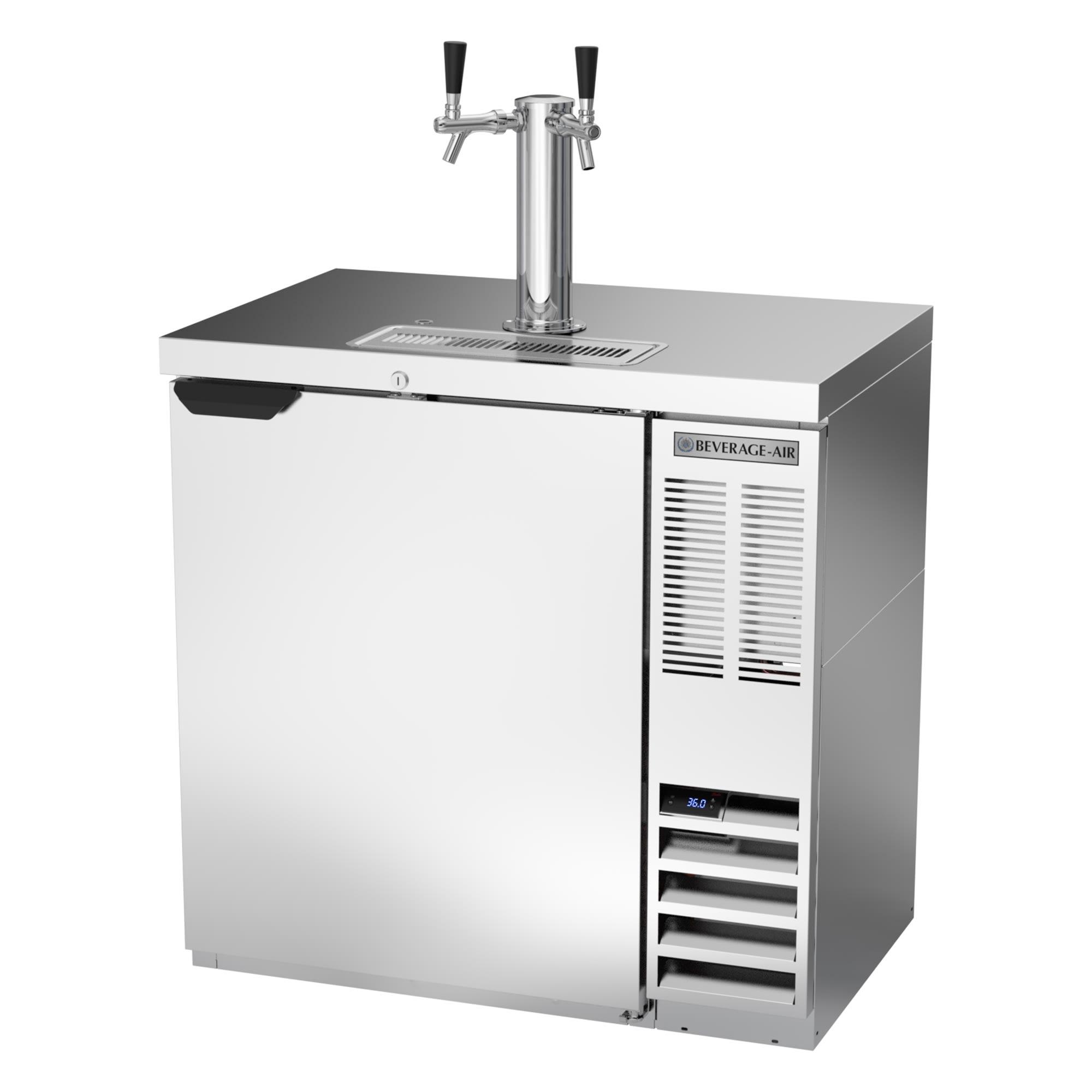 "Beverage Air DD36HC-1-S 36"" Draft Beer System w/ (1) 1/2 Keg Capacity - (1) Column, Stainless, 115v"