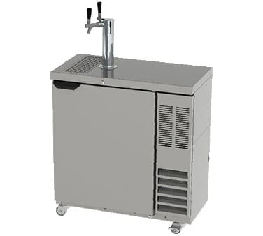 "Beverage Air DD36SLM-1-B 36"" Draft Beer System w/ (2) 1/4 keg Capacity, (1) Column, Black, 115v"