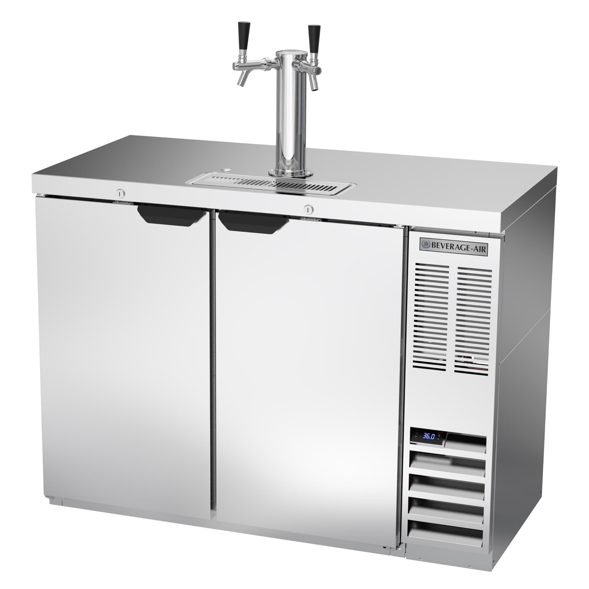 "Beverage Air DD48HC-1-S 48"" Draft Beer System w/ (2) Keg Capacity - (1) Column, Stainless, 115v"