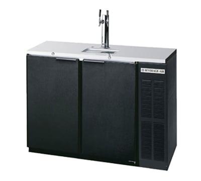 "Beverage Air DD48Y-1-B 48"" Draft Beer System w/ (2) Keg Capacity - (1) Column, Black, 115v"