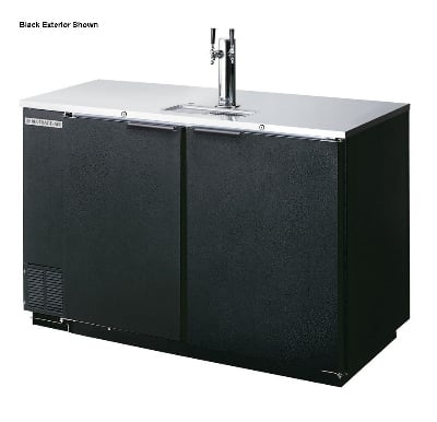"Beverage Air DD50-1-S-01 50"" Draft Beer System w/ (2) Keg Capacity - (1) Column, Stainless, 115v"