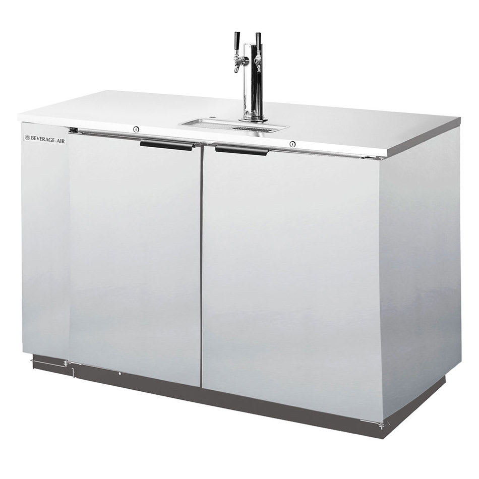 "Beverage Air DD50C-1-S 50.5"" Draft Beer System w/ (2) Keg Capacity - (1) Column, Stainless, 115v"