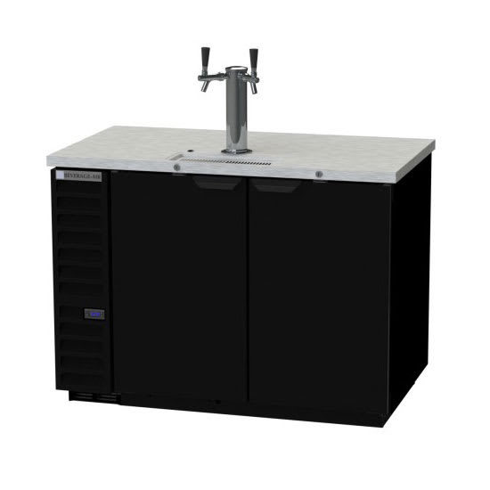 "Beverage Air DD50HC-1-B 50.5"" Draft Beer System w/ (2) Keg Capacity - (1) Column, Black, 115v"