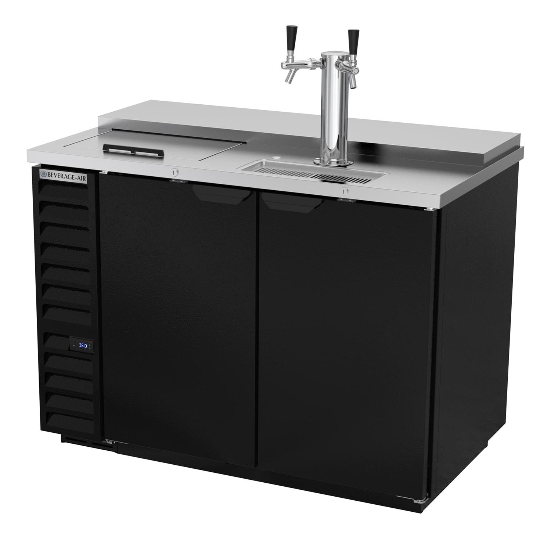 "Beverage Air DD50HC-1-C-B 50.5"" Draft Beer System w/ (2) Keg Capacity - (1) Column, Black, 115v"