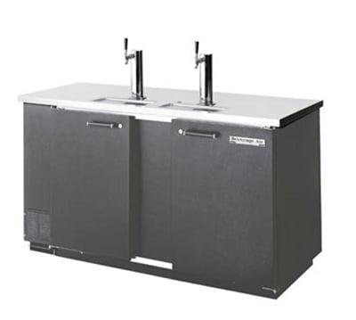 "Beverage Air DD58-1-S 59"" Draft Beer System w/ (3) Keg Capacity - (2) Columns, Stainless, 115v"