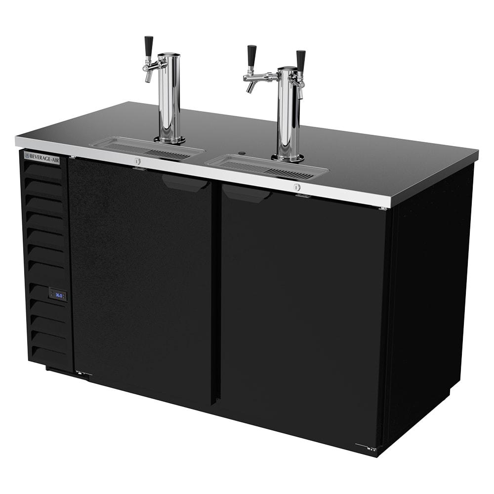 "Beverage Air DD58HC-1-B 59"" Draft Beer System w/ (3) Keg Capacity - (2) Column, Black, 115v"