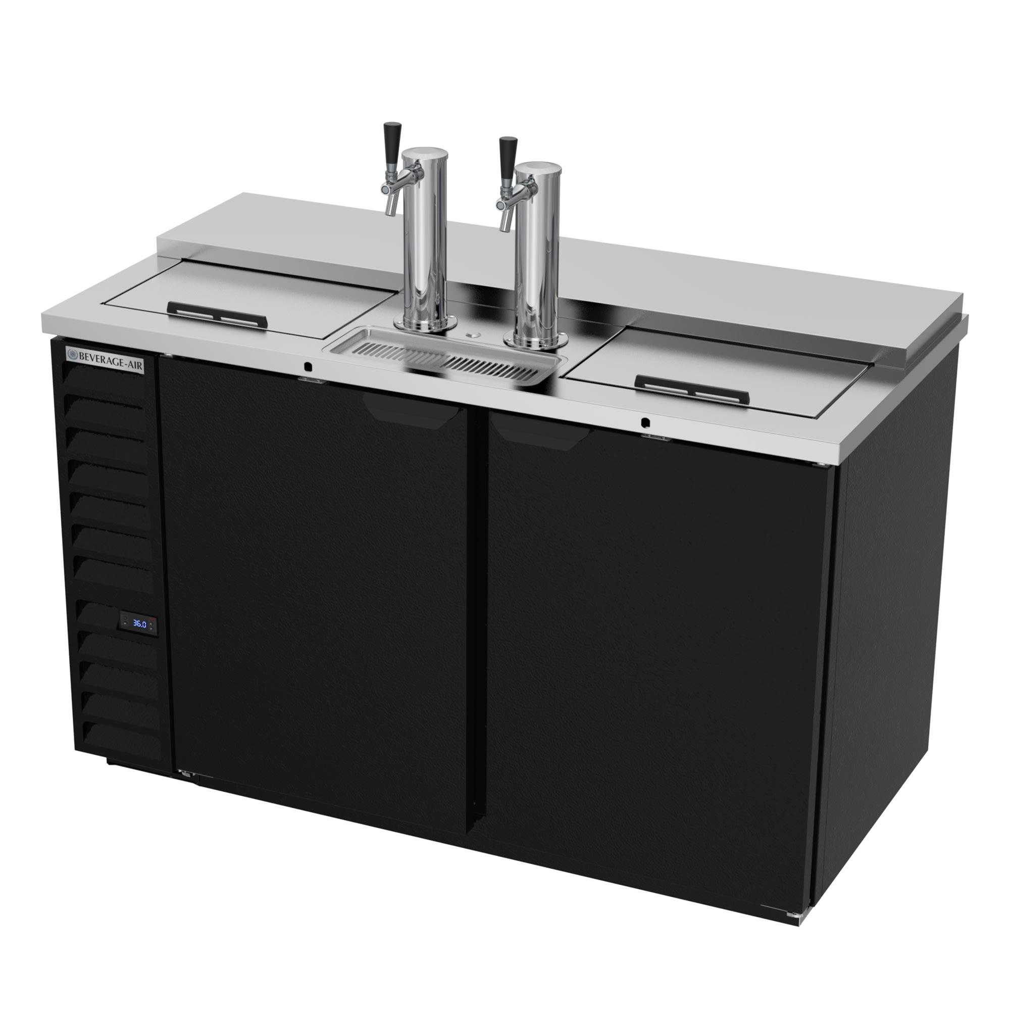 "Beverage Air DD58HC-1-C-B 59"" Draft Beer System w/ (3) Keg Capacity - (2) Column, Black, 115v"