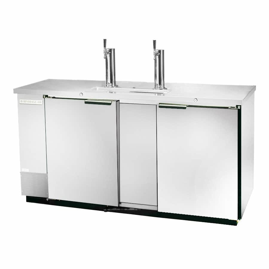 "Beverage Air DD58HC-1-S 59"" Draft Beer System w/ (3) Keg Capacity - (2) Columns, Stainless, 115v"