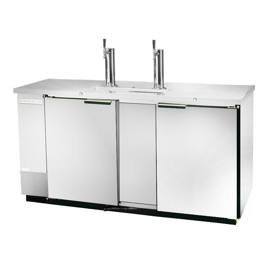 "Beverage Air DD68-1-S 69"" Draft Beer System w/ (2) Keg Capacity - (2) Columns, Stainless, 115v"
