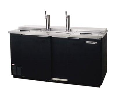 "Beverage Air DD68C-1-B 69"" Draft Beer System w/ (3) Keg Capacity - (2) Columns, Black, 115v"