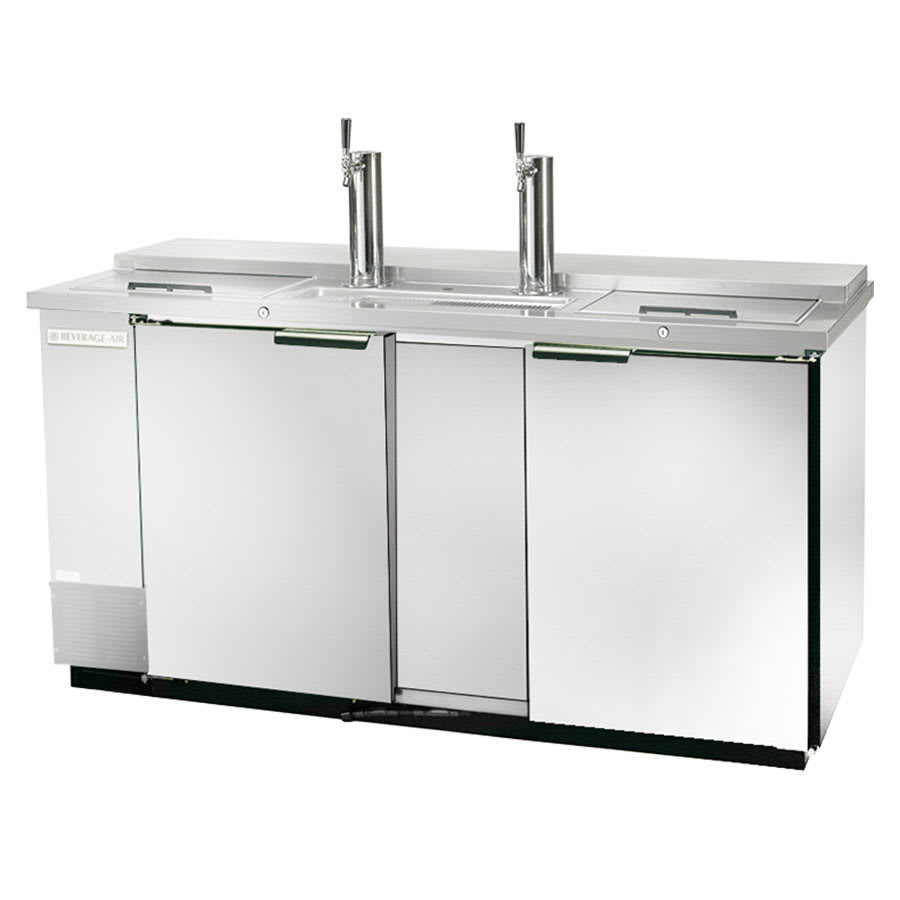 "Beverage Air DD68C-1-S 69"" Draft Beer System w/ (2) Keg Capacity - (2) Columns, Stainless, 115v"
