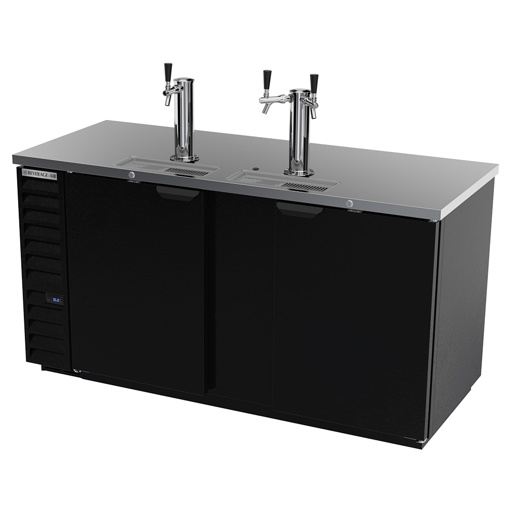 "Beverage Air DD68HC-1-B 69"" Draft Beer System w/ (3) Keg Capacity - (2) Columns, Black, 115v"