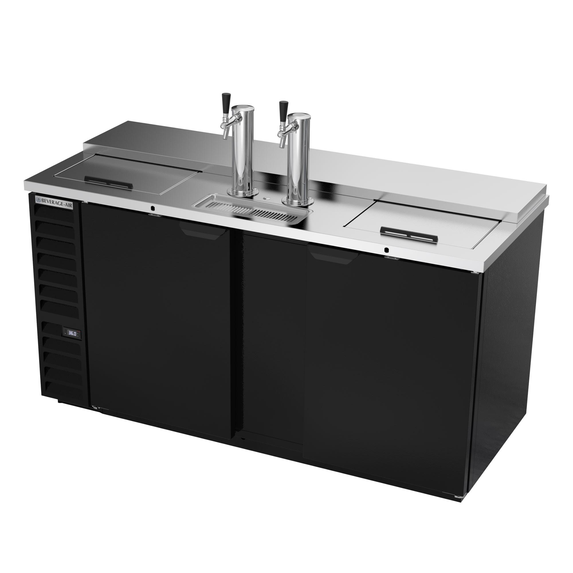 "Beverage Air DD68HC-1-C-B 69"" Draft Beer System w/ (3) Keg Capacity - (2) Column, Black, 115v"