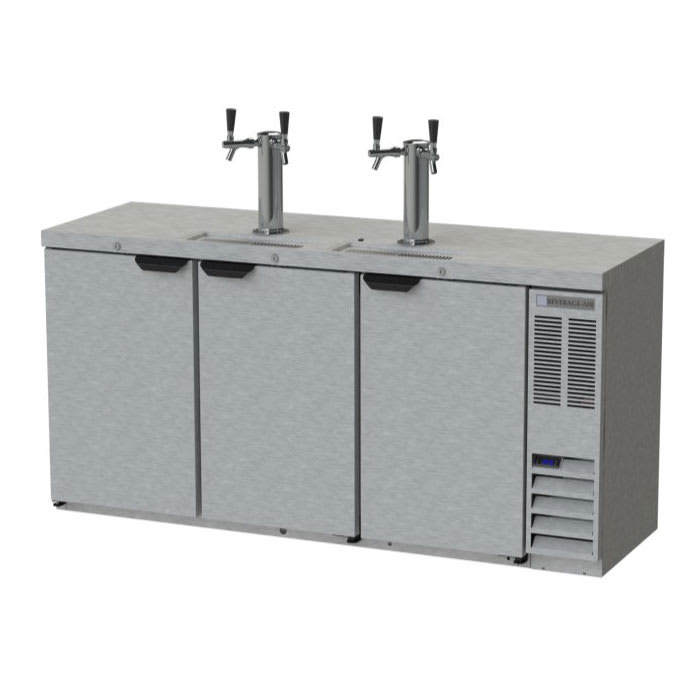 "Beverage Air DD72HC-1-S 72"" Draft Beer System w/ (3) Keg Capacity - (2) Column, Stainless, 115v"