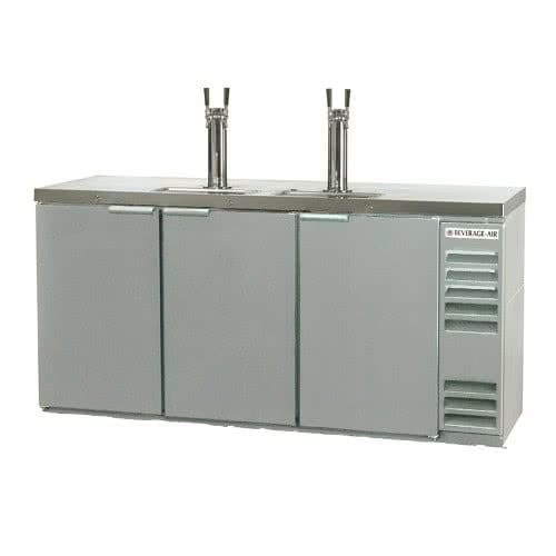 "Beverage Air DD72Y-1-S 72"" Draft Beer System w/ (3) Keg Capacity - (2) Columns, Stainless, 115v"