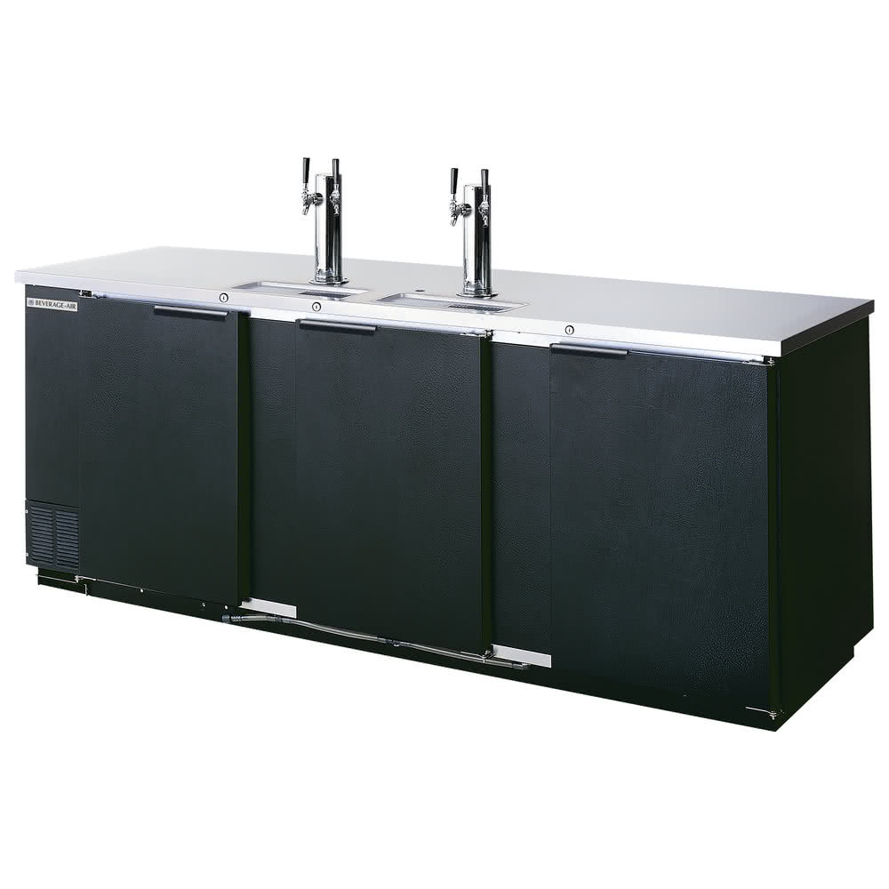 "Beverage Air DD78HC-1-B 79"" Draft Beer System w/ (4) Keg Capacity - (2) Columns, Black, 115v"