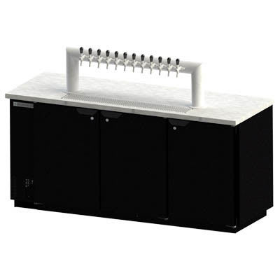"Beverage Air DD78HC-1-B-12T 79"" Draft Beer System w/ (4) Keg Capacity & (1) Column, Black, 115v"