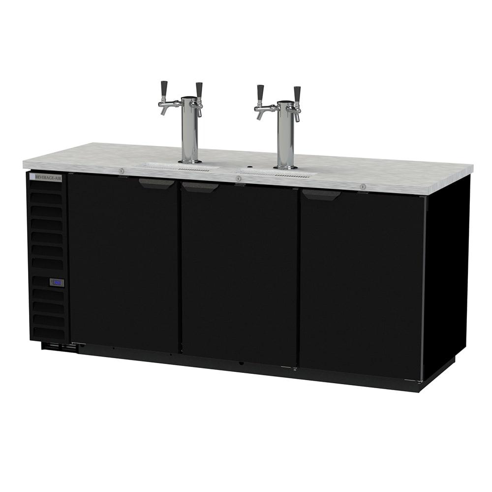 "Beverage Air DD78HC-1-B-144 79"" Draft Beer System w/ (4) Keg Capacity - (2) Column, Black, 115v"