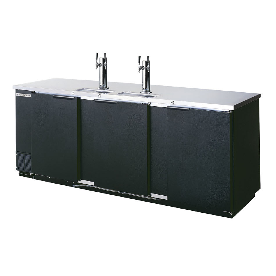 "Beverage Air DD94-1-B 95"" Draft Beer System w/ (5) Keg Capacity - (2) Columns, Black, 115v"