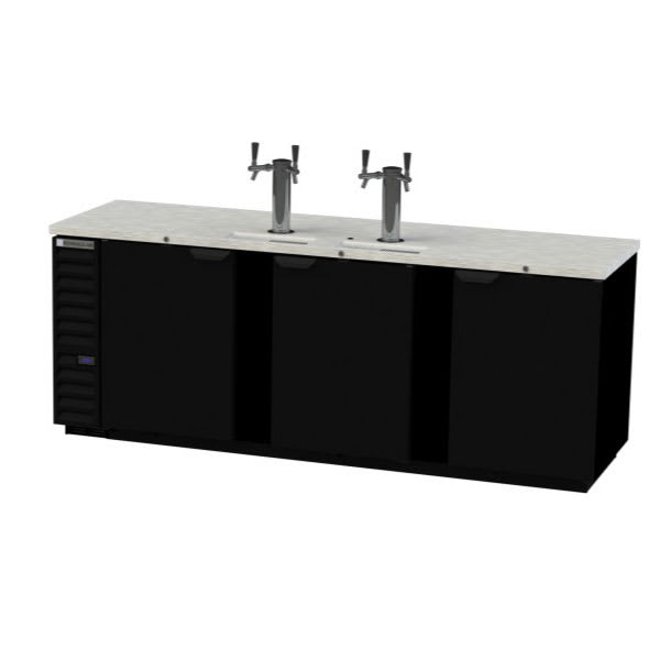 "Beverage Air DD94HC-1-B 95"" Draft Beer System w/ (5) Keg Capacity - (2) Column, Black, 115v"