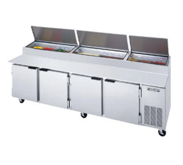 "Beverage Air DP119 119"" Pizza Prep Table w/ Refrigerated Base, 115v"