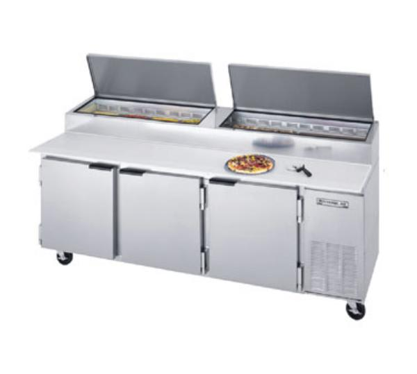 "Beverage Air DP93 93"" Pizza Prep Table w/ Refrigerated Base, 115v"