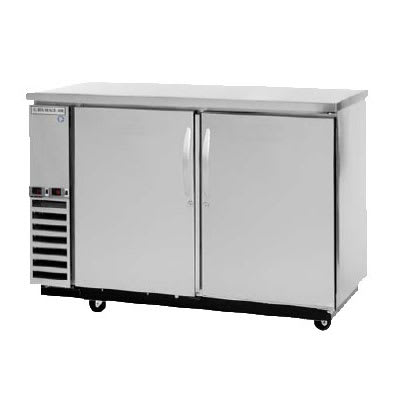 "Beverage Air DZ58-1-S 59"" Swinging Solid Door Bar Refrigerator, 2 Section, Stainless, 115v"