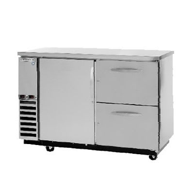 "Beverage Air DZD58-1-S-2 59"" Swinging Solid Door Bar Refrigerator w/ (2) Solid Wine Drawers, Stainless, 115v"