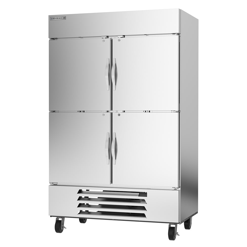 "Beverage Air HBF49HC-1-HS 52"" Two Section Reach In Freezer, (4) Solid Doors, 115v"